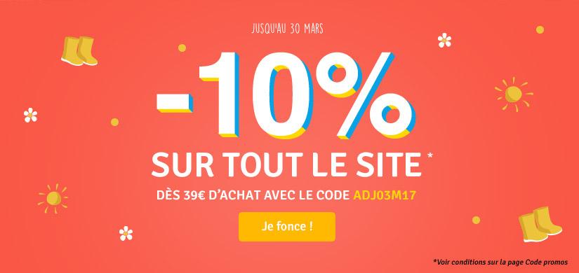 -10% dès 39€ avec le code : ADJ03M17